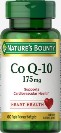 Coenzima Q10 (CoQ10) 175 mg  - Nature´s Bounthy - 60 softgels