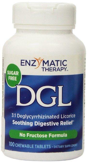 DGL - Enzimatic Therapy - 100 comprimidos mastigáveis