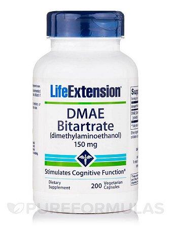 DMAE Bitartrate 150 mg 200 cápsulas - Life Extension