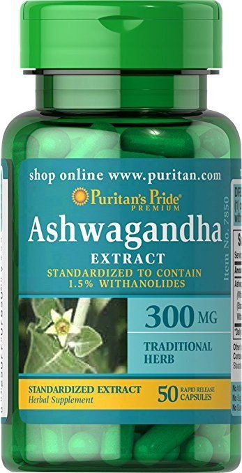 Extrato de Ashwagandha - Puritan´s Pride - 300 mg - 50 cápsulas