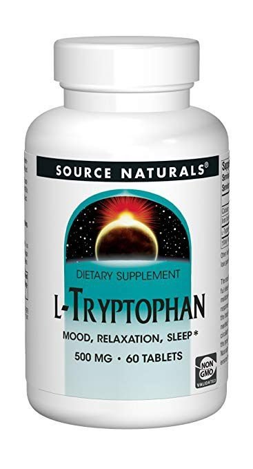 L-Triptofano (L-Tryptophan) 500 mg - Source Naturals - 60 tablets