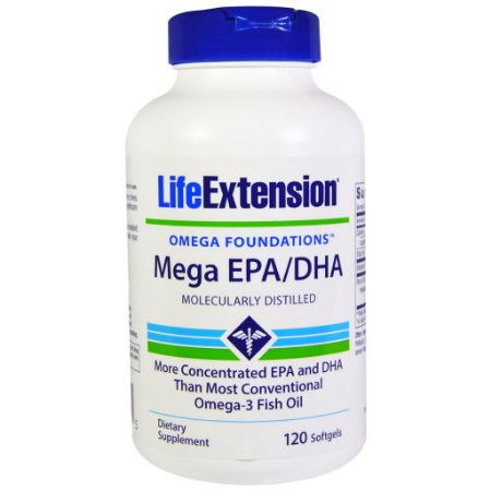 Mega 720 EPA / 480 DHA Super Ômega 3  - Life Extension - 120 softgels