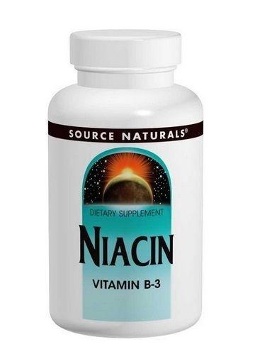Niacina (vitamina B-3) 100 mg - Source Naturals - 250 tabletes