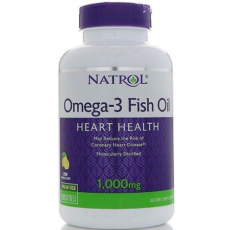 Ômega 3 1000 mg - Natrol - Sabor limão - 150 softgels