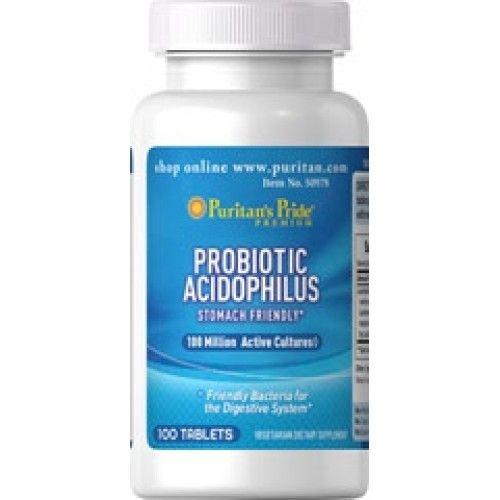 Probiótico Acidophilus  - Puritan´s Pride - 100 Tablets