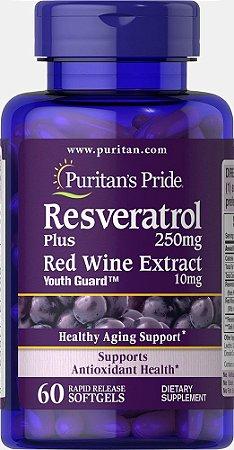 Resveratrol 250 mg - Puritan´s Pride - 60 softgels