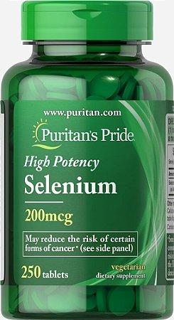 Selênio 200 mcg - Puritans Pride - 250 tablets
