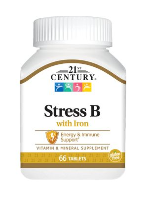 Stress B com Ferro - 21 ST Century - 66 tabletes