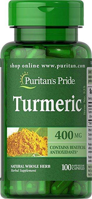Tumeric Curcumin 400 mg - Puritan´s Pride - 100 cápsulas