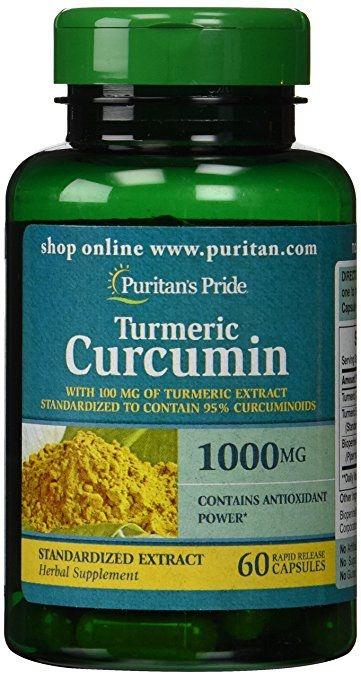 Tumeric Curcumin com Bioperina 1000 mg - Puritan´s Pride - 60 cápsulas