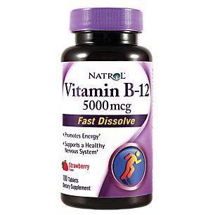 Vitamina B-12 5000 mcg Fast Dissolve - Natrol - 100 Tablets