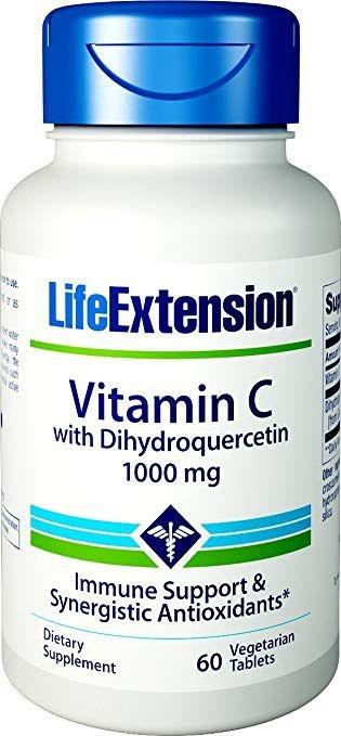 Vitamina C 1000 MG com di-hidroquercetina - Life Extension -  60 COMPRIMIDOS