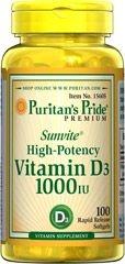 Vitamina D3 1.000 IU - Puritan's - 100 softgels