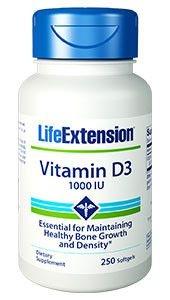 Vitamina D-3 1000 IU - Life Extension - 250 Softgels