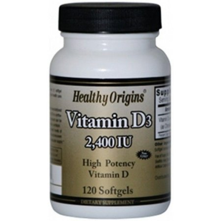 Vitamina D-3 2400 IU - Healthy Origins - 120 Softgels