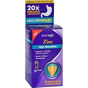 Zinco alta absorção- Natrol - 60 Tablets mastigáveis