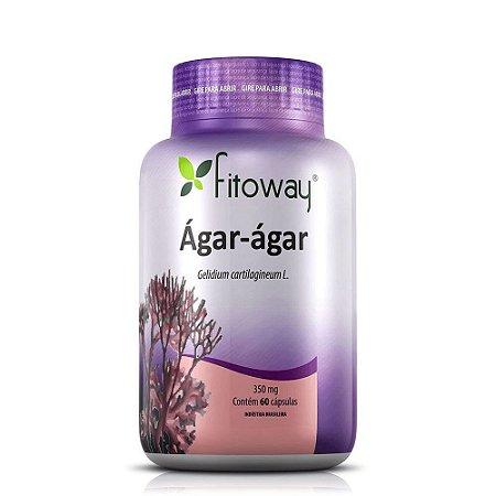 Ágar - Ágar Fitoway 350mg - 60 Cápsulas