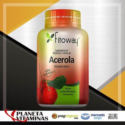 Acerola Fitoway 400mg - 60 Cápsulas