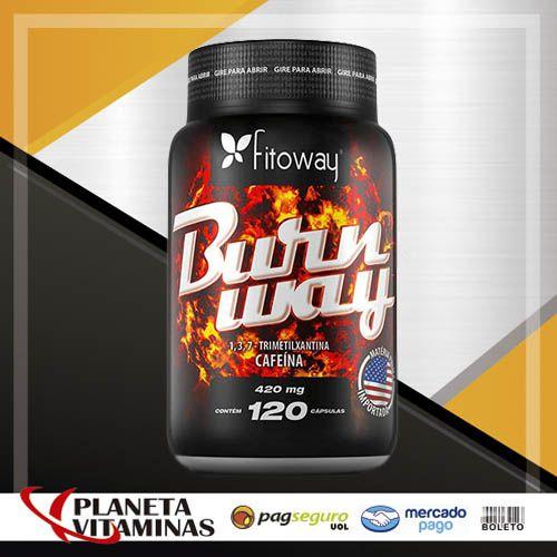 Burnway Fitoway - Cafeína 420mg - 120 Caps