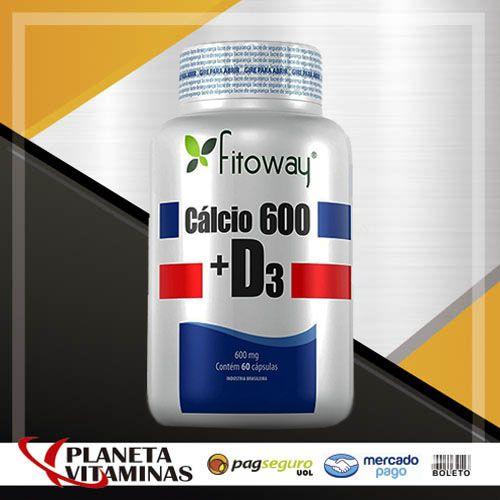 Cálcio 600 + D3 Fitoway - 60 Cáps