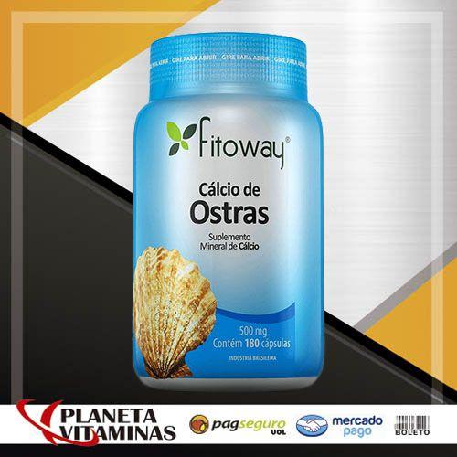 Cálcio De Ostras Fitoway 600mg - 180 Cáps