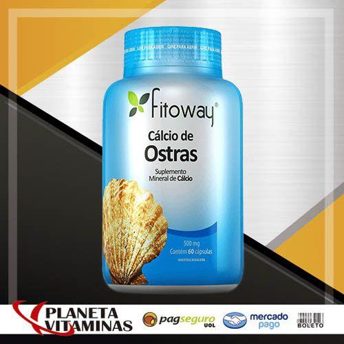 Cálcio De Ostras Fitoway 600mg - 60 Cápsulas