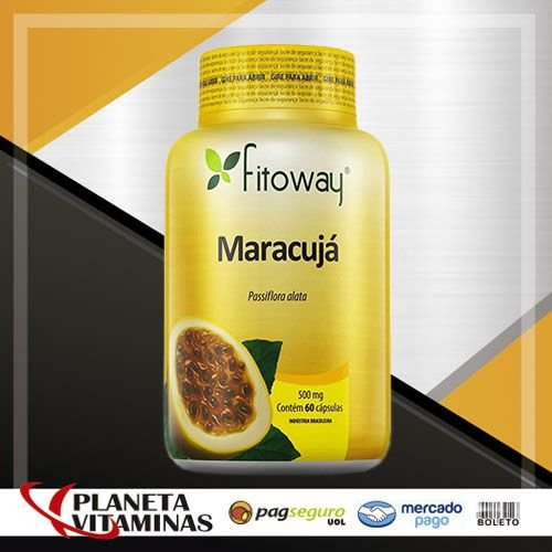 Maracujá (Passiflora) 500mg Fitoway - 60 Cáps