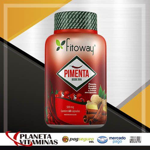 Pimenta Fitoway 60 Cáps (Thermogenico Pimenta + Gengibre +