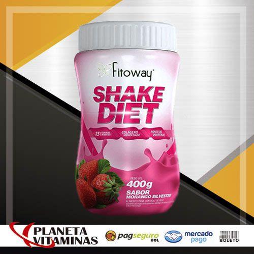 Shake Diet Fitoway 400gr - Sabor Morango