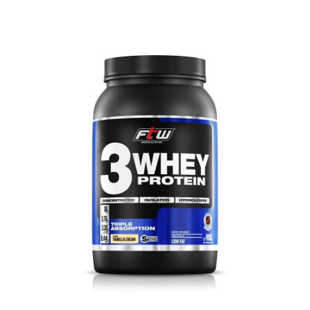 Whey 3 Protein Fitoway FTW - Sabor Baunilha - 900gr