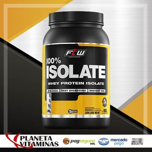 Whey Protein 100% Isolado Fitoway FTW Sabor Chocolate - 900g