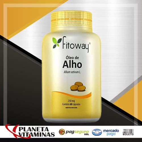 Óleo De Alho Fitoway 250mg - 60 Cápsulas