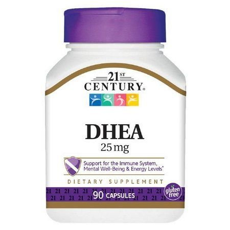 DHEA 25 mg - 21ST Century - 90 cápsulas