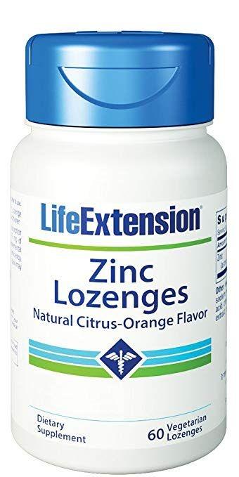 Zinco em Pastilhas (Sabor Laranja) - Life Extension 60 pastilhas