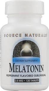 Melatonina 2,5 mg sabor Laranja-flavor - Source Naturals - 120 comprimidos (hormônio do sono)