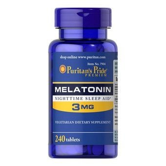 Comprar Melatonina 3 mg - Puritans Pride - 240 tablets (hormônio do sono) Val: 04/22