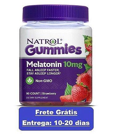 Comprar Melatonina gomas 10 mg  Morango - Natrol - 90 gomas (Envio Internacional)