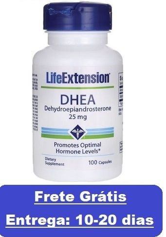 DHEA 25 mg  -  Life Extension - 100 cápsulas (Envio Internacional)