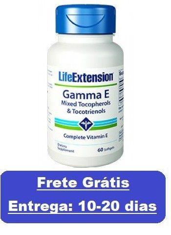 GAMA-E Tocoferol e Tocotrienol (Vitamina-E) Life Extension 60 Cápsulas (Envio Internacional)