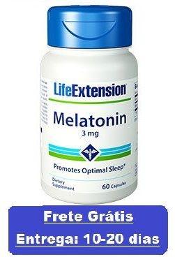 Melatonina 3 mg - Life Extension - 60 cápsulas vegetarianas (Envio Internacional)