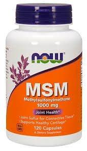 MSM 1000 mg - Now Foods - 120 Cápsulas (Envio Internacional)