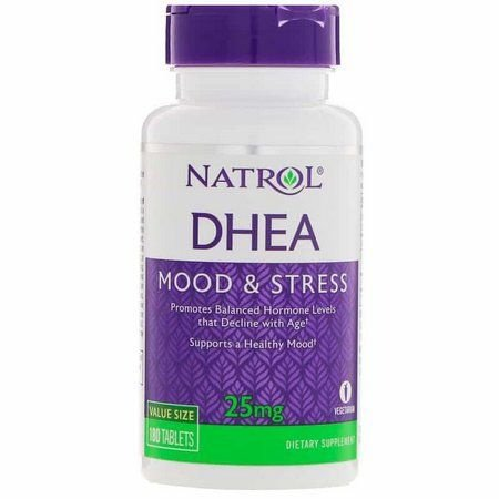 DHEA 25 mg  - NATROL - 180 comprimidos (Envio Internacional)