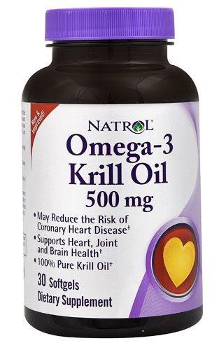 Ômega 3 + Óleo de Krill 500 mg - Natrol - 30 softgels (Envio Internacional)