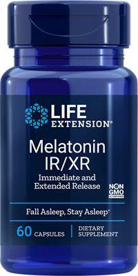 Melatonina IR/XR - Life Extension - 60 cápsulas (Envio Internacional 10-20 dias-FRETE GRÁTIS)