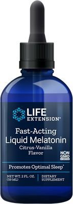 Melatonina 3 mg líquida de ação rápida - Life Extension - 59 ml (Envio Internacional 10-20 dias -FRETE GRÁTIS)