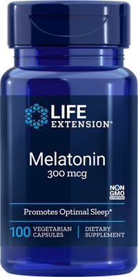 Melatonina 300 mcg - liberação lenta 6 horas - Life Extension - 100 tabletes vegetarianos (Envio Internacional 10-20 dias -FRETE GRÁTIS)