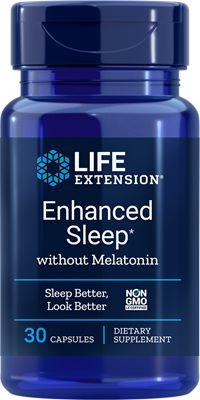 Reparador Natural do Sono sem Melatonina - Life Extension - 30 cápsulas (Envio Internacional 10-20 dias -FRETE GRÁTIS)