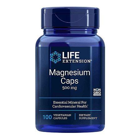 Magnésio Caps - 500 mg - 100 Cápsulas Vegetarianas - Life Extension • (Envio Internacional 10-20 FRETE GRÁTIS)