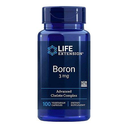 Boron - 100 Cápsulas Vegetarianas - Life Extension • (Envio Internacional 10-20 FRETE GRÁTIS)