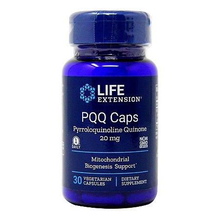 PQQ Caps com BioPQQ - 30 cápsulas vegetarianas - Life Extension • (Envio Internacional 10-20 FRETE GRÁTIS)